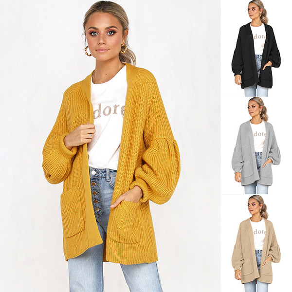 winter clothes women 2018 fall fashion cardigan women Winter knitted Sweater coat Office Lady Flat Knitted Long Cardigans