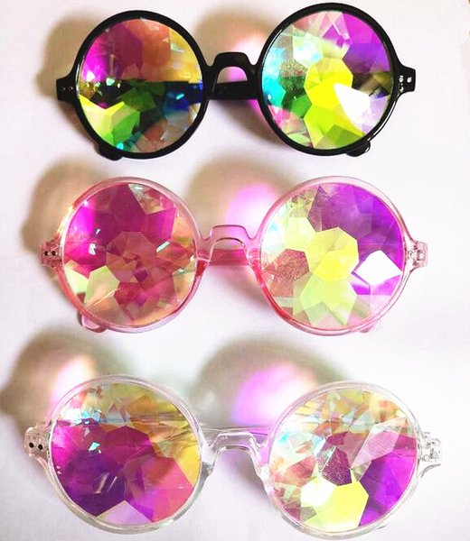 Party Eyeglasses Disco Mosaic Ball Sunglasses Kaleidoscope Glasses Resin Lenses 4D Glass Crystal Animation And Electronic Music Festiva