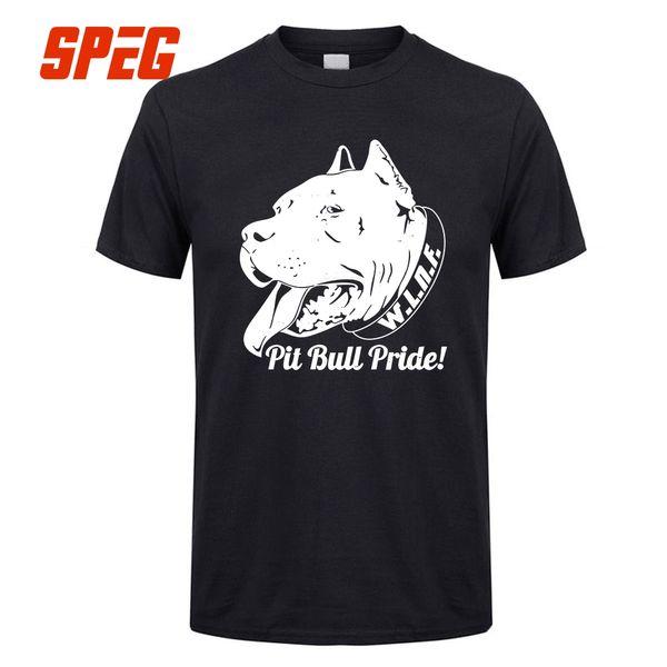 Men Tees Pride Bully Men Round Collar Pit Bull Short Sleeve T Shirt Pitbull Plus Size Funny Men's T Shirt Design Tops Clothes