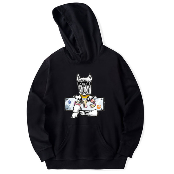 Kpop Bts Dog Cartoon Hoodies Hooded Harajuku Boyfriend Style Unisex Sweatshirt Women Men Cotton Long Sleeve Coat
