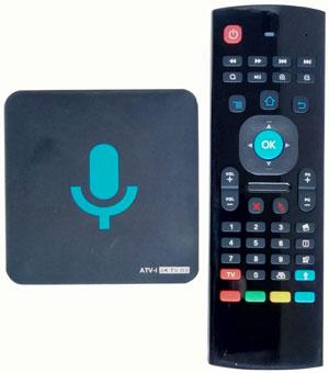 ATV-I with Google Voice remote control 1G 8G Smart android 6.0 TV Streaming Box Amlogic S905X arabic IPTV Europe Media Player