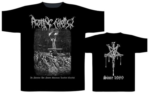 Nominal Dei Nostri gömlek Çürüyen İsa XXL T-Shirt Siyah Metal Offcl Tshirt Yeni Yaz Stil üst tee