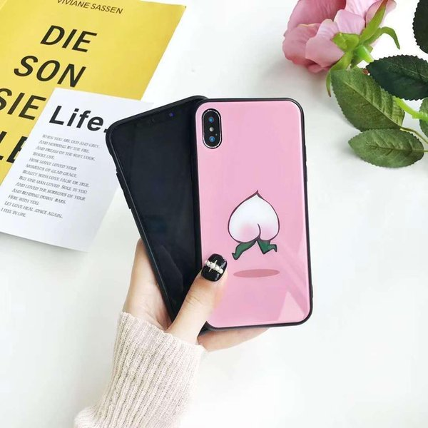 NEW ARRIVAL wholesale price 10pcs Luxury Ultra Thin Fruit Protection Phone Case Cover For iPhone X 6S 7 8 Plus