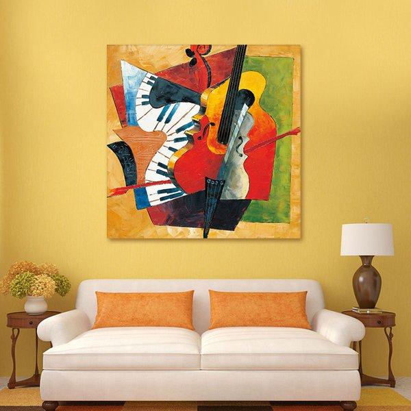 Diy yağlıboya Picasso Soyut yağlıboya diy dijital enstrüman boyama rakamlar gitar