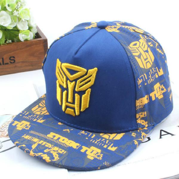 2019 New Embroidery Transformer Cap Super Car Man Baseball Caps Kids Hats  Boys Girls Hip Hop ac05a6644e38