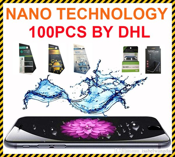 Invisible Full Cover Phone Screen Protector NANO Liquid Technology 3D Curved Edge Tempered Glass Film for Universal Phone
