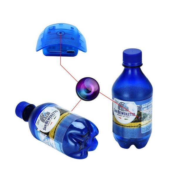 Mini videocamera HD 1080P Videoregistratore Rilevazione di movimento Videocamera di sicurezza domestica Videocamera per bottiglia d'acqua (blu)