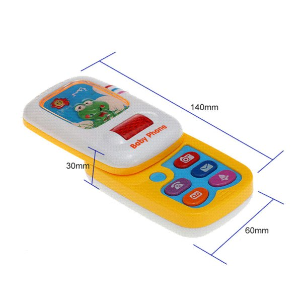 Musical Phone Toy Sound Learning Study Educational Vocal Toys for Toddler Baby Kids Simulation Plastic Electronic Cell Phone P15