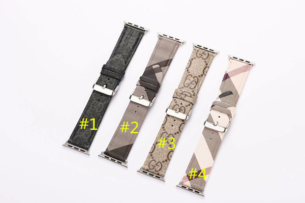 AAA Grade Luxury Leather Watchbands for Apple Watch Band 42mm 38mm 40MM 44MM iwatch 1 2 3 bands Leather Strap Four colors to choose