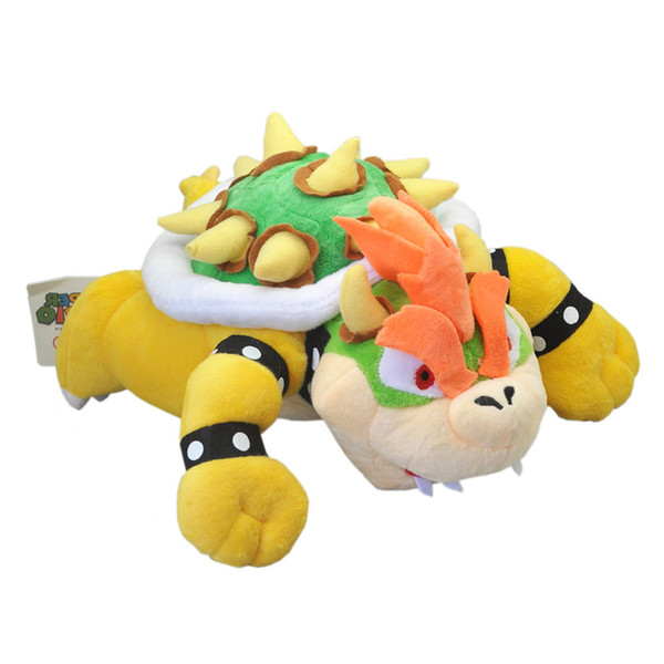 """Hot New 9"""" 23CM Super Mario Bros Bowser Plush Doll Anime Collectible Dolls Stuffed Party Gifts Soft Toys"""