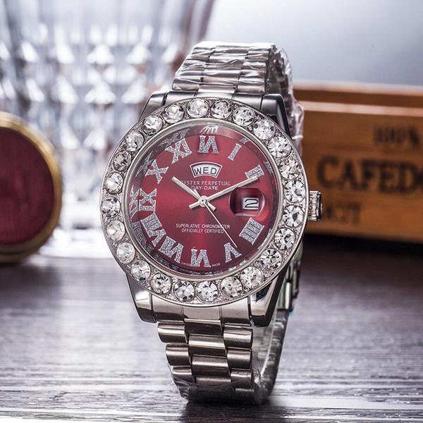 automatic date luxury fashion men and women of the steel belt movement quartz clock men watch