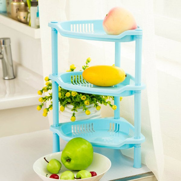 Three-layers Bathroom Makeup Storage Shelf 3 Colors Plastic Cosmetics Toiletries Holder For Bath Organizer N411