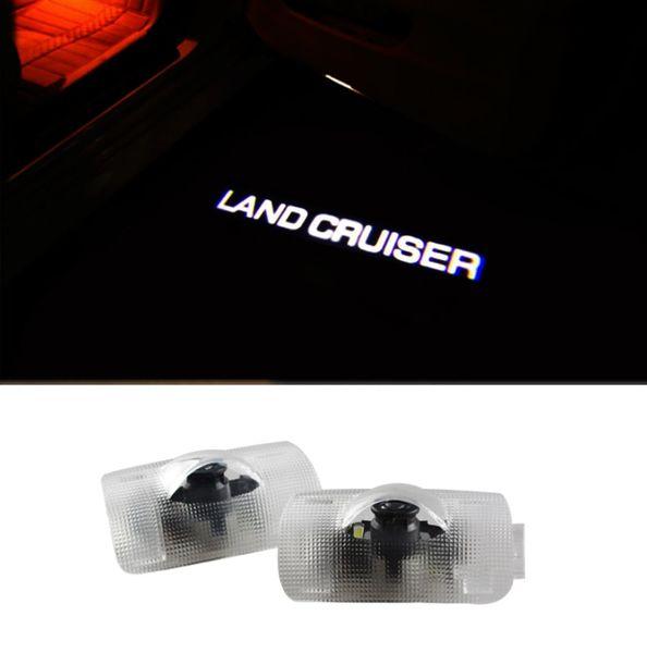 2pcs LED porta auto Welcome proiettore laser Logo ombra luce fantasma per Toyota Land Cruiser 2003 - 2017