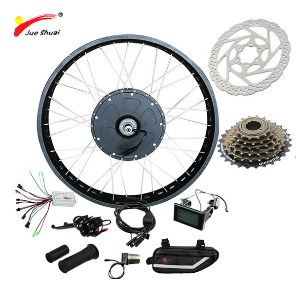 "JS Fat Wheel Customized 48V 1000W Electric Bike Kit for Mountain Bike LCD 26"" 700C Hub Electric Motor for Bicycle Free Shipping"