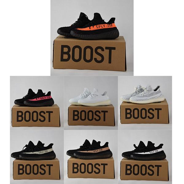 506d9b1791 2018 Kanye West 350 V2 Cream White Dark Green Running Shoes Sport Zebra  Bred Beluga Black