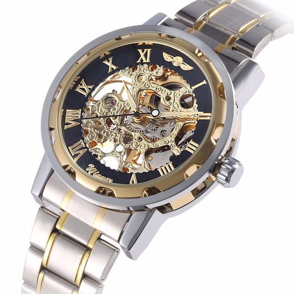 Orologio meccanico da uomo d'affari, orologio da polso meccanico, orologio da uomo, orologio da polso in acciaio con cinturino in acciaio, orologio da uomo sportivo di lusso