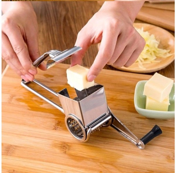 Rotary Cheese Grater Stainless Steel Cheese Slicer Kitchen Cheese Butter Cutter For Cake Chocolate Fondue Cooking Baking Tools