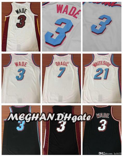 newest b6265 956c9 2018 Miami Heat City Edition 2018 Men Basketball Jersey 3 Dwyane Wade 7  Goran Dragic 21 Hassan Whiteside Mens Shirts Wade Jerseys From Aug110208,  ...