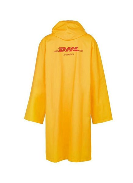 2018 Newest TOP hip hop kanye west fashion Vetements DHL Letter One Size windbreaker waterproof raincoat jacket men women Coat 3
