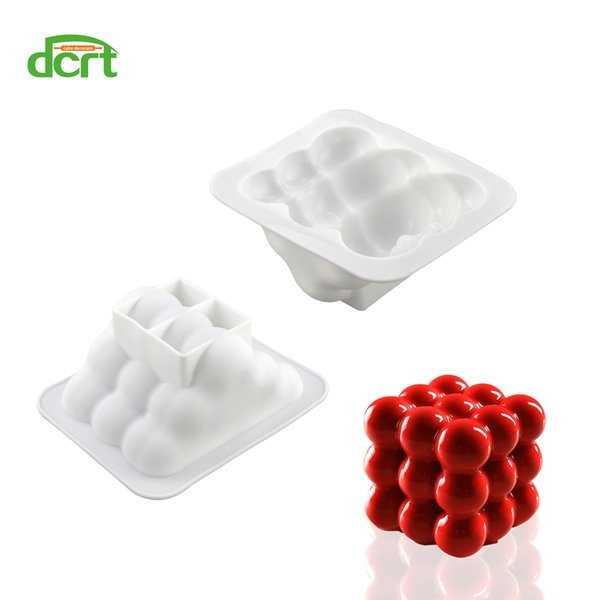 2 PCS/Set 3x3 Spheres Geometric Shape Silicone Mould Cake Mold for Chocolate Mousse Chiffon Cake Decorating Baking Tools