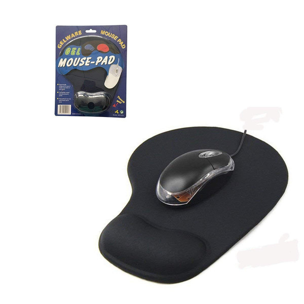 top popular Wrist Protect Optical Trackball PC Thicken Mouse Pad Support Wrist Comfort Mouse Pad Mat Mice for Game Black 2021