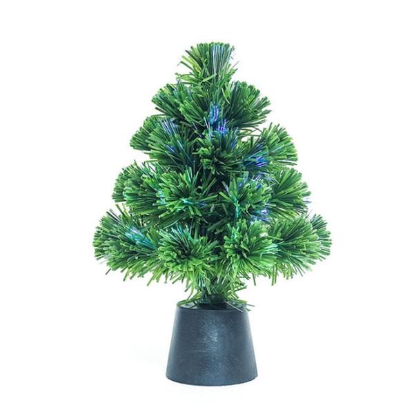 Decorazione natalizia 30 centimetri in PVC fai da te albero di Natale Mini USB fibra albero Desktop Home Decor Decoration