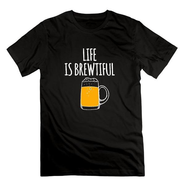 Смешной Человек Футболка-Жизнь Пиво Brewtiful