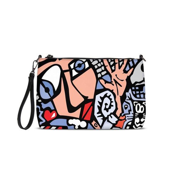 Famous Brand Women Color Patchwork Envelope Shoulder Bag Solid Messenger Bag Fashion Designer Handbag Girl Large Crossbody Purse