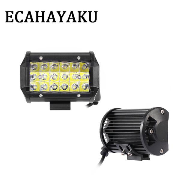 "20Pcs 54W 5"" Triple-row LED Work Light Bar Spot Beam Car Fog Lamp for Motorcycle ATV SUV Truck Trailer Pickup 4X4 4WD"