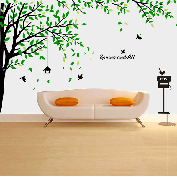 Wholesale Dinosaur Grow Chart Tree Wall Stickers Wallpaper Wall Art for Home Decor Kitchen Accessories Household Crafts Suppllies