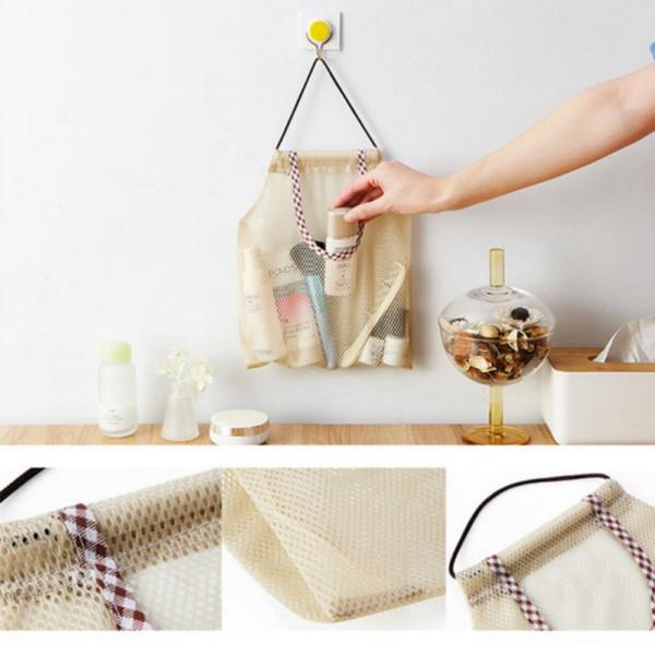 Holder Net Trash Bag Storage Hanging Mesh Garbage Bag Organizer Dispenser Kitchen Wall Mount Reusable Grocery Bags