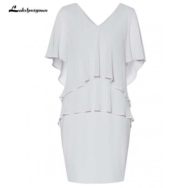 Grey Chiffon Mother of the Bride Dresses vestidos de novia Plus Size Cap Sleeve Mother of the Bride Dresses Custom Made