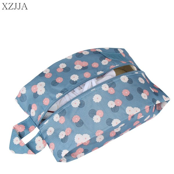 XZJJA Travel Storage Bag Portable Zipper Waterproof Shoe Sorting Pouch Multifunction Foldable Sundries Toiletry Makeup Organizer