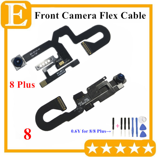 100% OEM Front Camera For iPhone 8G 7 8 Plus Small Facing Camera Module With Proximity Light Sensor Flex Cable Replacement Parts 10PCS