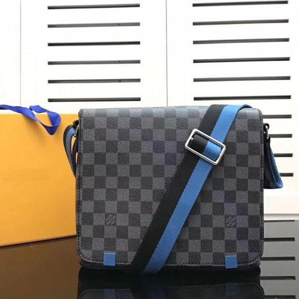2018 New Fashion Brand Designer Men Genuine Leather Handbag Black Briefcase Laptop Shoulder Bag Messenger Bag High Quality