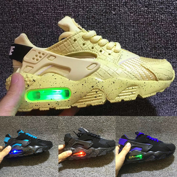 Nike Air Huarache Flaş Işık Hava Huarache Çocuklar 2018 Yeni Koşu Ayakkabıları Bebek Run Çocuk spor ayakkabı açık luxry Tenis huaraches Eğitmenler Çocuk Sneakers