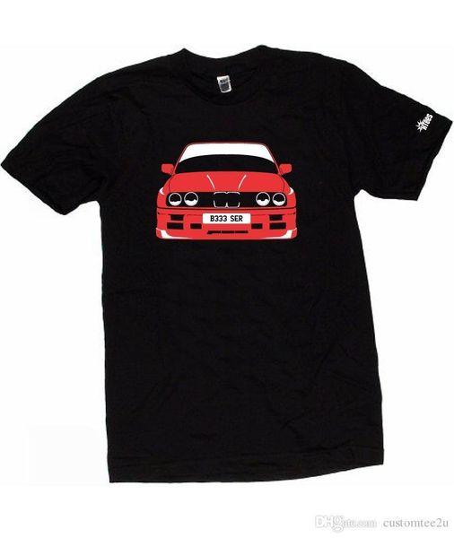 Mens T-shirts Mode 2018 Bm 3 Séries M3 E30 Choisissez la couleur de la voiture S-Xxxl T-shirt