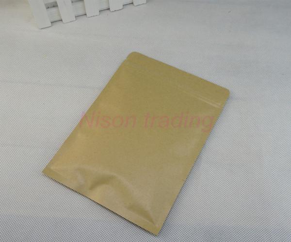 2019 10x15cm Brown Kraft Paper Aluminium Foil Ziplock Bag, Lining Mylar  Pack Dried Apple Packaging Pouch Food Grade, Zipper Lock Sack From  Nisonshaw,