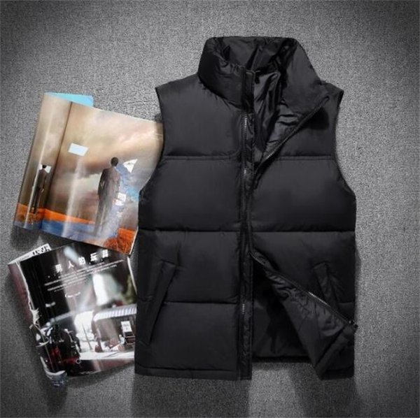 top popular new 2018 men DOWN winter down jacket North Polartec vest Male Sports Hooded Jackets Bomber Collar With Zippers Outdoor face Coats 2020