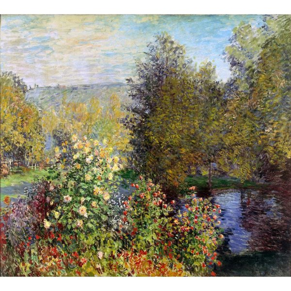 Hand painted Landscapes art A Corner of the Garden at Montgeron Claude Monet oil paintings for Home decor