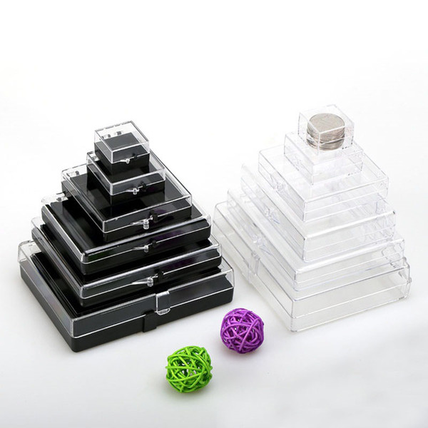 7*7*1.9cm Clear Plastic Rectangle Box With Lid Cover Small Diaplay Box Organizer Package Sample Collection ZA6085