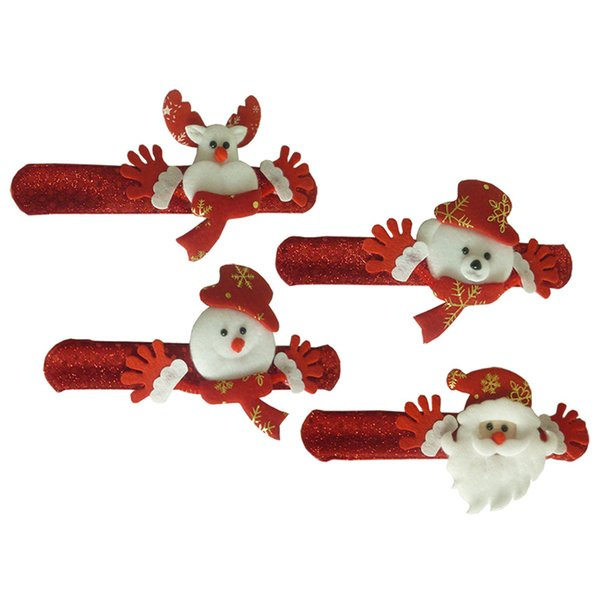 4Pcs Christmas Ornament Belt Buckle Fastener Napkin Rings Holder New year Christmas Deco Pocket Fork&Knife Tableware
