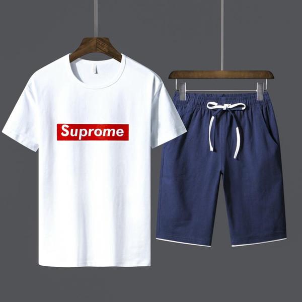 Hombre Verano media de Tiempo algodón manga Traje letras Camiseta corta Estampado de manga movimiento libre Z0qPznpw