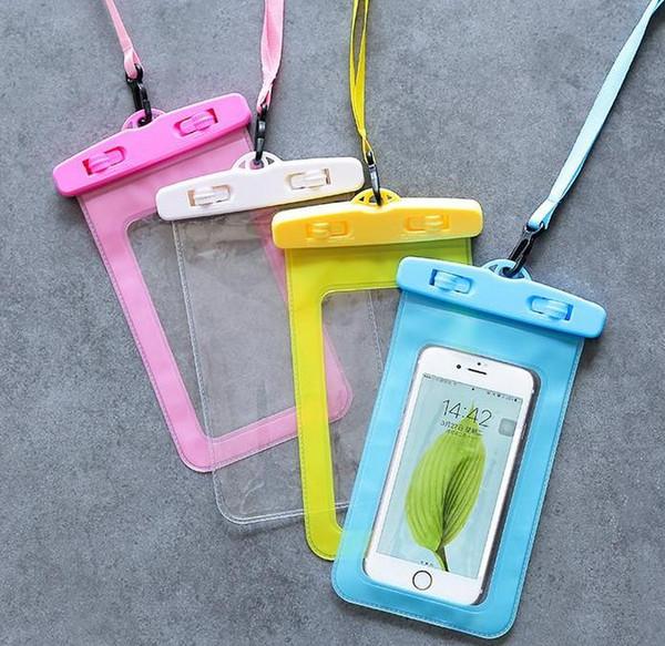 téléphone portable sac étanche écran tactile sac de natation printemps chaud caméra sous-marine apple vivo Huawei p universal