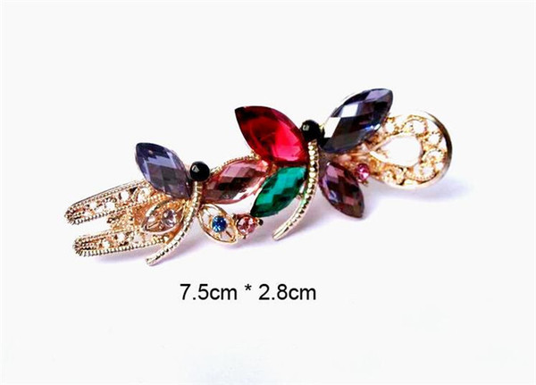 best selling Bridal Hair Jewelry Charm Gold Plated Crystal Butterfly Hair Clips Hairpin Wedding Hair Accessories For Women gift R233