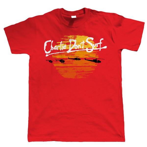 Charlie no surf camiseta divertida para hombre - regalo para él papá película retro Vietnam fresco camiseta orgullo casual para hombres nueva moda unisex