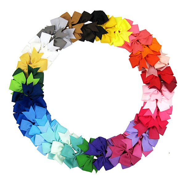 Hair Bows Hair Pin for Kids Girls Children 40 Colors Baby Hairbows Girl Hair Bows with Clips Flower Hair-Clip