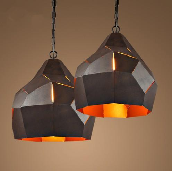 Loft Iron pendant lamp Restaurant Cafe Bar Retro Industry Creative Personality Hot Pot Shop pendant light e27 max40w 220v indoor LLFA
