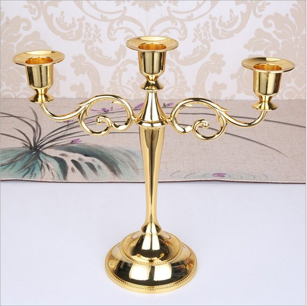metal candle holders Silver Gold Black Bronze 5 arms candlestick holder stand wedding event candelabra candle holders