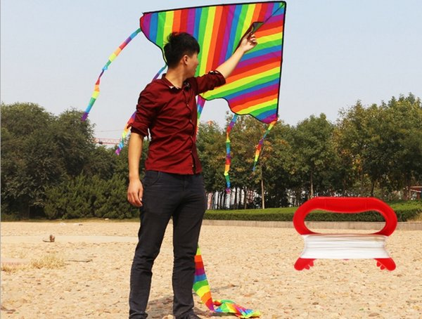best selling Grid Beautiful Rainbow Kite For Kids One Of The Best Selling Toys For Outdoor Games and Activities - Good Plan For Memorable Summer Fun